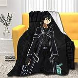 Xuliaro Sword Art Online - Kirigaya Kazuto Kirito Throw Blanket Ultra Super Soft Lightweight Blanket Living Room Bedroom Warm Decor Gift Idea Medium (60x50 in)