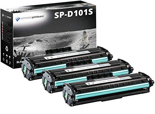 Schneider Printware Toner   Ca.3.300 Seiten Nach ISO-Norm 19752   kompatibel, als Ersatz für MLT-D101S für Samsung ML-2160 ML-2164 W ML-2165 ML-2165W SCX-3405 SCX-3405 F FW W SF-760P, 3er-Pack