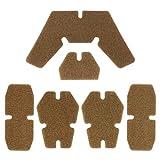 Aoutacc Almohadillas para Casco Airsoft, Kits de Relleno de Espuma de Repuesto para Casco, Juego de Alfombrillas de Accesorios para Casco Fast/Mich/ACH/USMC/PASGT (Tan)