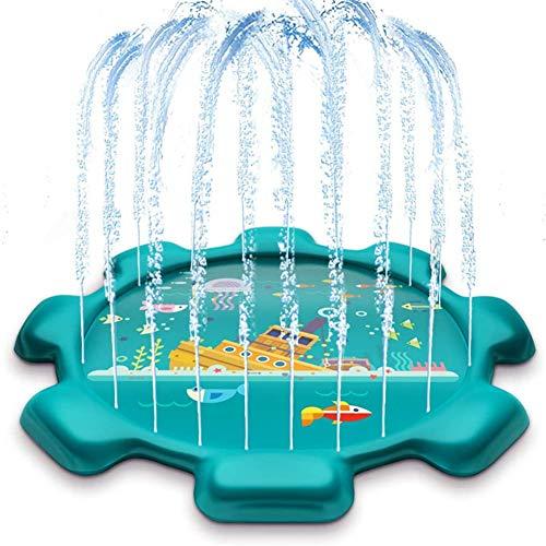 Spritzer-Sprinkler-Spielzeug für Kinder, Spritz-Pad und Planschbecken zum Lernen des Sprinkler-Pools für Kinder, aufblasbares 60-Zoll-Sprinkler-Sommerspielzeug, Wasserspielzeug, Außenpool für Babys