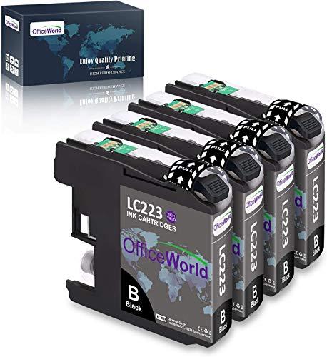 OfficeWorld Ersatz für Brother LC223 Schwarz LC223BK Patronen Kompatibel für Brother MFC-J5320DW DCP-J4120DW MFC-J480DW MFC-J5720DW MFC-J5625DW MFC-J4620DW MFC-J4420DW MFC-J880DW MFC-J4625DW