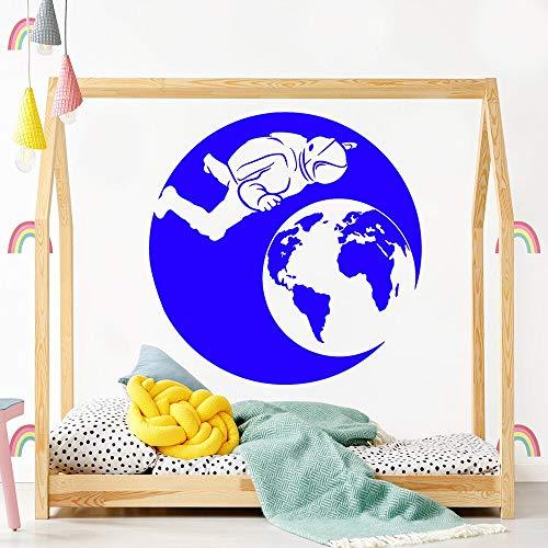 sanzangtang Cartoon Astronaut wandaufkleber entfernbare wandaufkleber DIY tapete für küche Restaurant Aufkleber Dekoration 50x50 cm