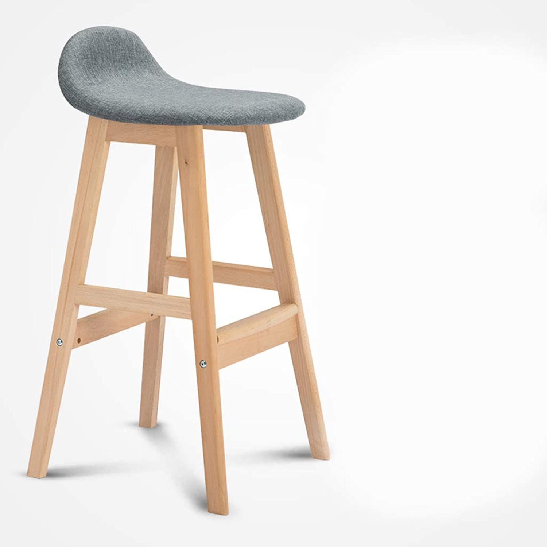 Xiao Jian Bar Stool Solid Wood High Stool Chair Bar Table and Chairs Front Chair Chair High Stool Bar Chair Lounge Chair Bar Chair (color   A)