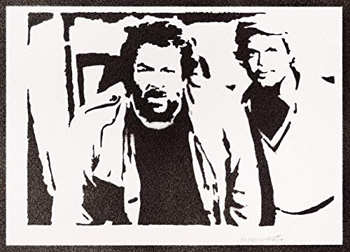 Bud Spencer und Terence Hill Poster Plakat Handmade Graffiti Street Art - Artwork