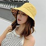 AOXQ Chapeau De Seau Sombrero Estampado Plegable Adecuado Para Damas Que Usan Playa Y Sol