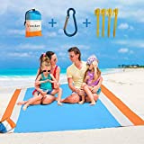 VoMii for Large Beach Blanket 82' x 79', Portable Compact...