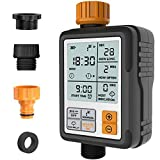 Kazeila Hose Timer, Water Timers for Hoses Programmable, Sprinkler Timer with Rain Delay / Child Lock / Auto & Manual Watering Mode/IP65 Waterproof, 3' Large Screen Irrigation Timer for Garden