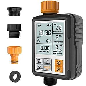 Kazeila Programador de Riego Automatico Temporizador de Agua Riego Mangueras Controlador Digital Programable para Rociador de Jardín Sistema de Irrigación con Temporizador