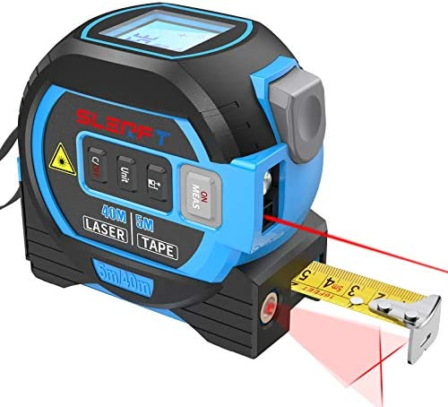 Laser Tape Measure Cross laser line 3 In 1 Laser Measure 131ft 40m Measuring Tape 16ft 5m Cross product image