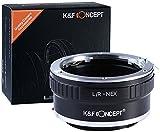 K&F Concept Leica R Adaptador ∙Compatible con Cámara Sony E-Mount (NEX/Alpha) ∙ Adaptador para Lente Leica R