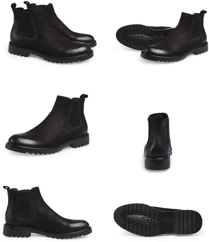 Ailj Snow Boots, Men's Warm Boots and Velvet shoes Winter Boots Warm Boots Cotton shoes Non-Slip Waterproof (Black) (color   Black, Size   44 EU 11 US 10 UK 27cm JP)