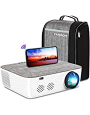 """WiFi Projector Native 1080P Projector, FANGOR 701 Video Projector Bluetooth/Full Sealed Design/Digital Keystone/300"""" Display/50%Zoom 8500L Movie Projector Support 4K, for phone/PC/XBox/PS4/TV Stick"""