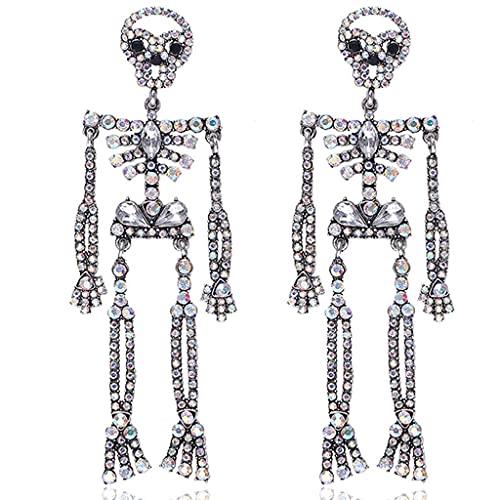 Halloween Punk Skull Pendientes Stud Pendientes Acero Inoxidable Gótico Hip Hop Joyería Esqueleto Pendientes Pendientes para Mujeres Hombres (Color : 5)