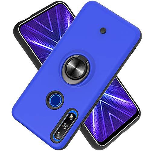 FAWUMAN Hülle für Huawei Honor 9X / 9X Pro mit Standfunktion, Dekomprimierungsknopf, Rotationsgyroskop, PC + TPU Handyhülle Stossfest Case -Navy blau
