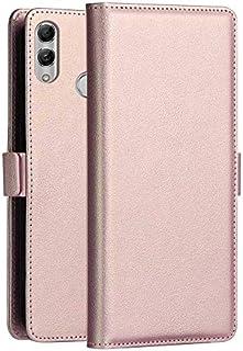 Qin Fanglin Huawei P Smart(2019)ケース、Huawei P Smart(2019)シリーズPC + PU横型フリップレザーケース、ホルダー付き、カードスロット&財布付き (色 : ローズゴールド)