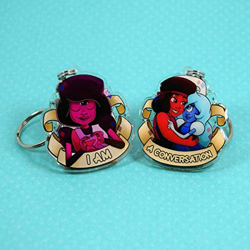 Steven Universe - Garnet - Ruby - Sapphire - Original Artwork Double Sided Keychain