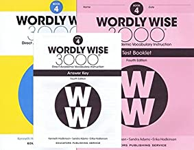 Wordly Wise 3000® 4th Edition Grade 4 SET -- Student Book, Test Booklet and Answer Key (Direct Academic Vocabulary Instruction)