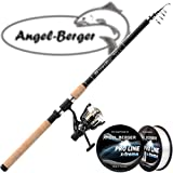 Angel-Berger Tele Angelset Rute Rolle mit Schnur (Travel 1,80m / 10-20g)