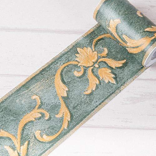 Tapezierbordüre mit grünem Pistazien-Motiv, selbstklebend, für Badezimmer, Wohnzimmer, Küche, 10 x 1000 cm