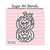 Halloween pumpkins PYO cookie stencil paint your own ST00395