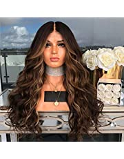 Honorall High-temperature Synthetic Lace Front Fiber Big Curly Wigs for The Long Curve Natural Matt Hairpiece