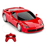 RASTAR Ferrari Remote Control Car, 1/24 Scale Ferrari 458 Italia Model Car, Red Ferrari Toy Car