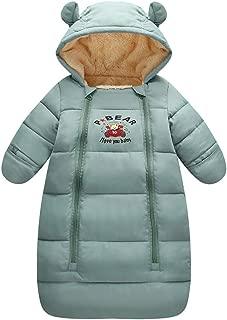 Newborn Unisex Baby Winter Thick Fleece Sleeping Bag Bunting Wearable Blanket