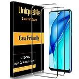 UniqueMe [2 Stück] Panzerglas Kompatibel mit Huawei P Smart 2021 Schutzfolie,[9H-Festigkeit] [Anti-Bläschen] [Anti-Kratzen] HD klar Folie Bildschirmschutz Gehärtetes Glas
