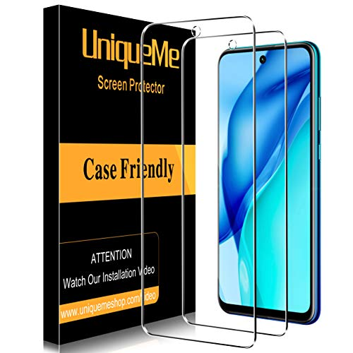 [2 pièces] UniqueMe Verre Trempé Protection écran pour Huawei P Smart 2021, [Sensible au toucher][Sans Bulles] 9H Dureté Ultra Résistant Film Vitre pour Huawei P Smart 2021