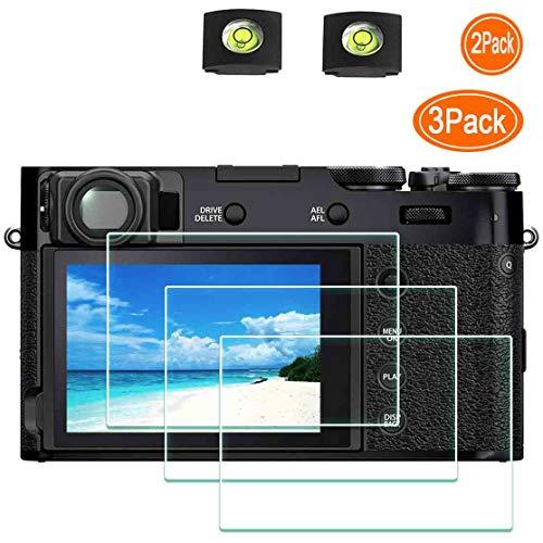 Ulbter X100V Displayschutz für Fujifilm X100V Digitalkamera, mit Blitzschuh-Abdeckung, 0,3 mm, Härtegrad 9H, gehärtetes Glas, kratzfest, Anti-Fingerabdruck, blasenfrei, staubdicht
