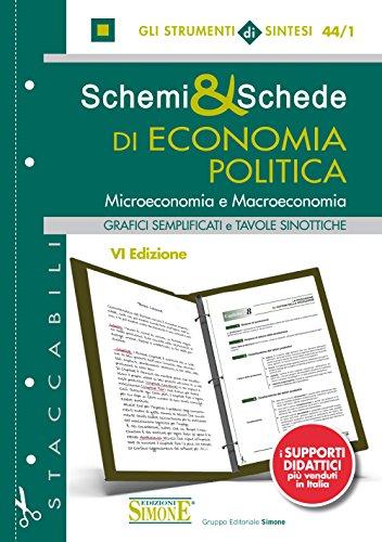 Schemi & Schede di Economia Politica: Microeconomia e Macroeconomia - Grafici semplificati e Tavole sinottiche