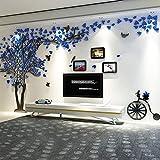 Alicemall 3D Pegatina de Árbol Vinilos Hojas Negros Marcos de Foto Adhesivo Decorativo de Pared...