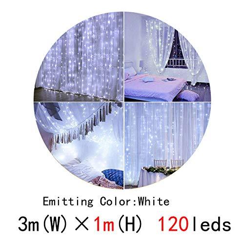 Lichtketting, ring, lichtketting, 3 x 3 m, 300 leds, led-lichtketting, kerstverlichting, feest, terras, raamdecoratie, feestverlichting, bruiloft, Kerstmis, 220 V