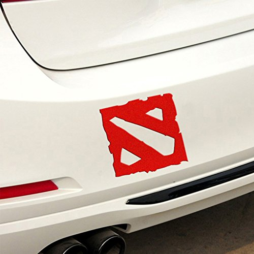 Kaizen Dota 2 Bumper Sticker Graphics Decals Scratch Cover For Cars Vinyl Sticker For Volkswagen,Toyota,Honda,Chevrolet,Ford,Mercedes Benz,Audi,BMW and Any SUV,Truck or Sedan Car Color Red