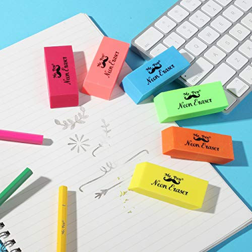 Mr. Pen- Erasers, Pencil Eraser, 12 Pack, Neon Colors, Erasers, Eraser, Erasers for Drawing, Eraser Pencil, Pencil Erasers, Erasers for Kids, Art Erasers for Drawing, Artist Eraser, Colorful Erasers Photo #5