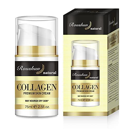 Collagen Creme Moisturizing Gesichtscreme mit Hyaluronsäure & Vitamin E Firming Anti Aging Creme Naturkollagencreme Feuchtigkeitspflege für Gesicht und Augen