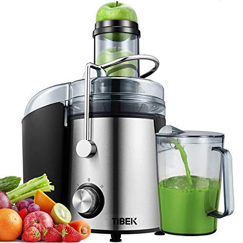 classement un comparer Centrifugeuse Centrifugeuse 800W Presse-fruits et légumes à 2 vitesses, largeur 75 mm…