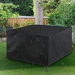 Housse de meubles de jardin, housse de meubles de patio, imperméable 420D, housse de canapé de table d'extérieur en…