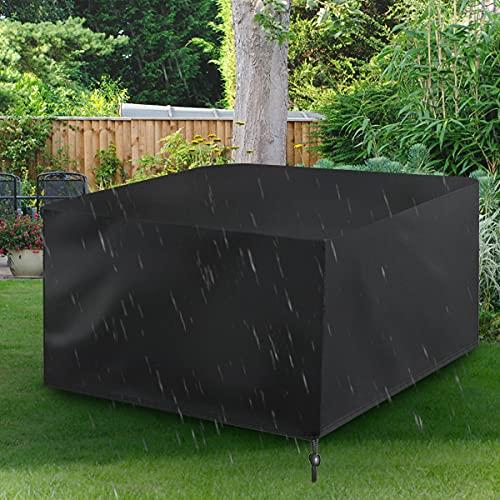 Balcony and Juice Funda de Muebles de Jardín Impermeables, Funda Muebles Exterior Tela Oxford Resistente 420D Oxford, Funda Muebles Patio Terraza Resitente al Polvo 126x126x74cm