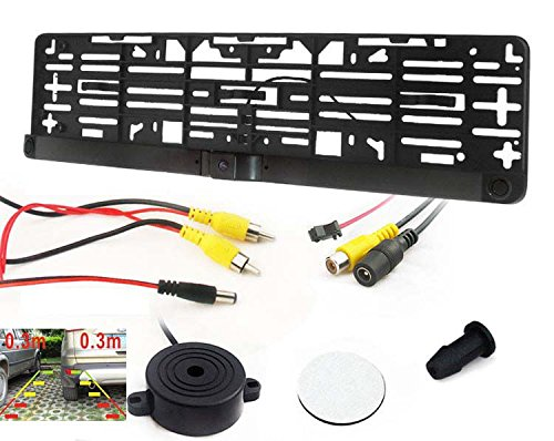 Einparkhilfe Rückfahrkamera Kombination Rückfahrsysstem Kennzeichen Nummernschild Rückfahrwarner Halterung YMPA EH-NSK