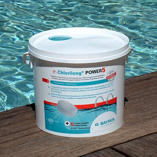 Bayrol e.Chlorilong Power 5 - Galets de Chlore à Dissolution Lente - 1 ou 5 kg