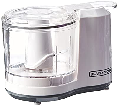 BLACK+DECKER 1.5-Cup Electric Food Chopper, Improved Assembly, White, HC150BW