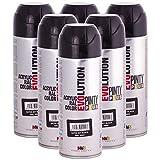 Pintyplus Evolution - Pintura en aerosol satinada, color negro azabache, RAL 900...