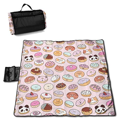 End Nazi Couverture de Pique-Nique Animal Donuts Chats Pnada Outdoor Sand Proof/Portable Beach Mat Outdoor Picnic Accessories