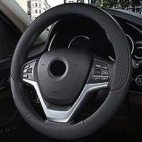 車のハンドルカバーユニバーサル直径37 / 38cm滑り止めの通気性のあるステアリングホイールの保護カバーカーインテリア製品