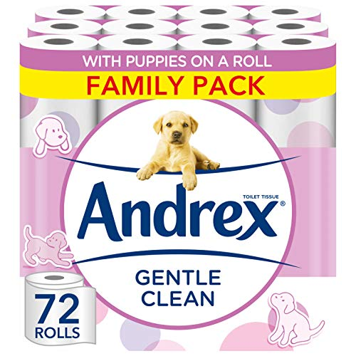 Andrex Toilet Roll - Gentle Clean Toilet Paper, 72 Toilet Rolls