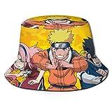 Bucket Hat Naruto- Bucket Sun Hat para Hombres Mujeres -Protection Packable Summer Fisherman Cap for Fishing, Safari, Beach Boating Black
