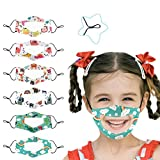 Cartoon Print Clear Face_Mask for Kids, Clear Window Mas for Boys and Girls (Multicolor 001)