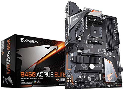 Gigabyte B450 Aorus Elite Carte Mere AMD B450 - Schwarz