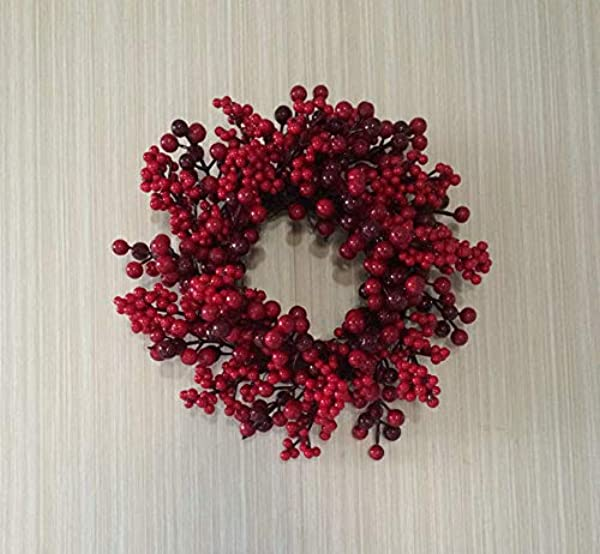 Northlight Mixed Berries Artificial Christmas Twig Wreath 12 Inch Unlit
